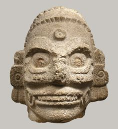 Head of a Rain God, 10th–11th century Mexico; Maya-Toltec Limestone
