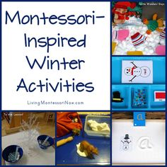 Montessori-Inspired Winter Activities - roundup post with LOTS of winter activities of all kinds