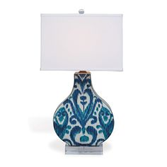 Port68: Scalamandré  Indigo/Blue lamp. High point market fall 2013  Available at J. Garner Home