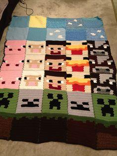 Minecraft Blanket on Pinterest Minecraft Crochet, Minecraft Crochet?