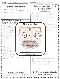 Character Map - Would be great in guided reading with higher levels