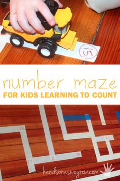 A number maze to practice counting and recognizing numbers