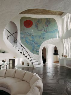 Grotto-style homes of architecture-sculpture movement architect Jacques Couëlle. Photo by Christophe Coënon.