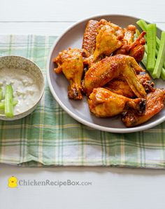 Garlic Buffalo Wings or Chicken Wings Recipe — Chicken Recipe Box