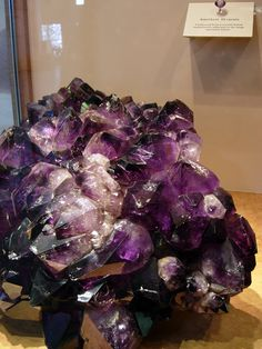 the largest, highest quality natural specimen of amethyst found in the US