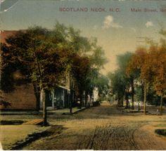 Scotland Neck, N.C., Main Street, looking North :: North Carolina Postcards