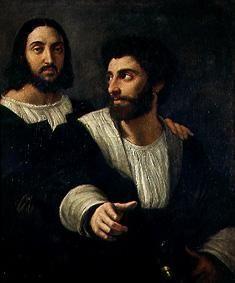 (Raphael) Raffaello Santi - Self-portrait with a friend.