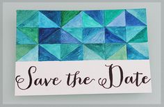 A Little London Wedding - A blog for weddings in London: Watercolour Save The Date - A Little London Wedding DIY