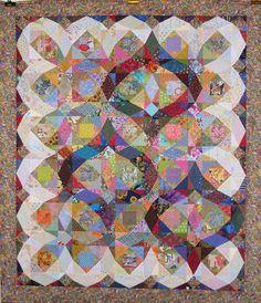 T - Storm of Scraps by Linda Rotz Miller Quilts & Quilt Tops, via Flickr