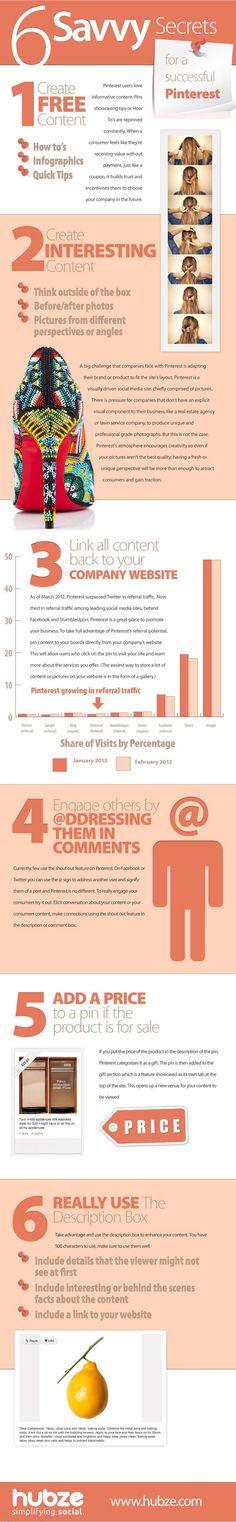 #Infografia Seis recomendaciones para triunfar en #Pinterest