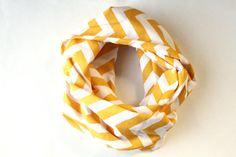 Yellow chevron scarf