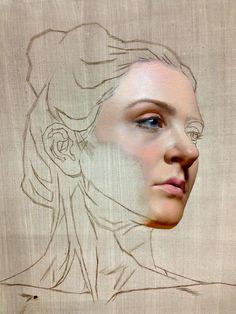 portrait study, oil on linen, 12 x 12