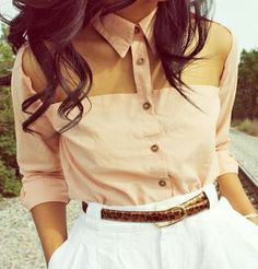 Cut out shirt top - love this!