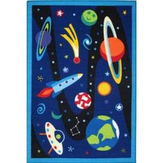 LA Rug Inc. Olive Kids Out of This World Multi Colored 19 in. x 29 in. Accent Rug - Model # OLK 019 1929 at The Home Depot