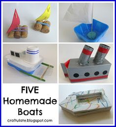 Craftulate: FIVE Homemade Boats