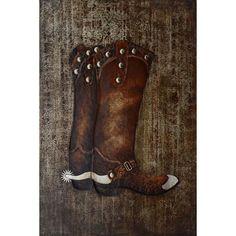 Cowboy Boots: 32 x 47 Wall Art