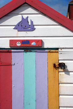 Beach Hut Detail, Paignton, South Devon, England. ilovesouthdevon.com #devon