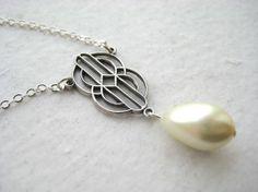 Art Deco Pearl Bridal Necklace