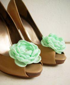 shoe clips, mint, color combinations