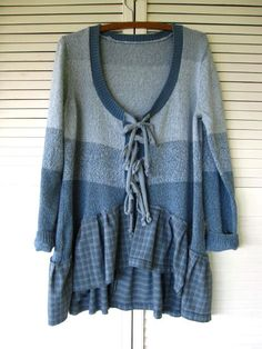 Eco upcycled clothing Bohemian Sweater  by lillienoradrygoods, $62.50
