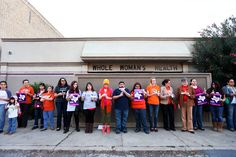 "People gather for a vigil at Whole Women's Health Clinic in McAllen, Texas, on March 6, 2014. ""How do you count women in Texas, and when do the numbers get big?"" Amy Davidson on a law that will cause all but eight abortion clinics in the state to close: http://nyr.kr/1xiDMZw (Photograph by Jennifer Whitney/The New York Times via Redux)"