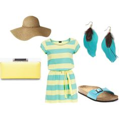 Summer dress, created by gillianmb on Polyvore