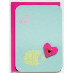 DIY Hedgehog Valentine - more hedgehog love!