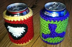 Free #Crochet Pattern - Hulk Soda Cozy, published at craftown