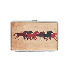 Bella Running Horses Credit Card Wallet