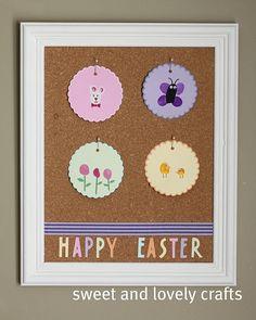 Easter thumbprint art