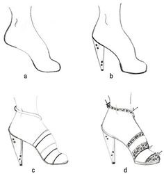 How to Draw Fashion Shoes - For Dummies More