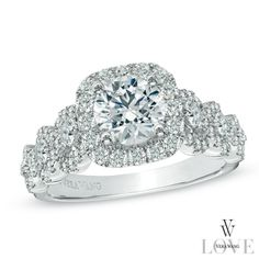 Vera+Wang+LOVE+Collection+2+CT.+T.W.+Diamond+Frame+Engagement+Ring+in+14K+White+Gold