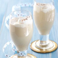 Chilled Mocha Eggnog Recipe from Taste of Home -- Eggnog gets a delightful twist with a hint of mocha flavor in this recipe.  —Debbi Smith, Crossett, Arkansas