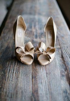 beige valentinos, photo by adam nyholt (via 7 Wedding Shoe Rules via EmmalineBride.com)