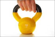 Working out with Kettle Weights