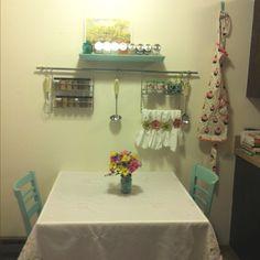Retro diner style kitchen