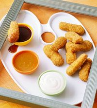 kid's meal Painter's Palette (though I'd use anything other than chicken nuggets- maybe veggie sticks)
