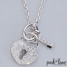 """Facebook contest for 2/3/14. Park Lane will be randomly selecting at least 5 winners throughout the day until 5pm central to receive a fabulous jewelry sample prize!!!! Click """"Like"""" on the """"Key to my Heart Necklace"""" on the Official Park Lane POST on the Jewels by Park Lane Inc. Page to be entered! (""""Likes"""" on shared posts will not be counted.)"""