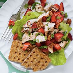 40 Fresh & Juicy Strawberry Recipes | Strawberry Chicken Salad | SouthernLiving.com