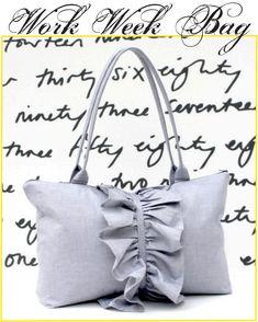 Work Week Ruffled Handbag - Free Tutorial