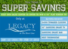 "Legacy At The River Line | Mableton, GA | Save big on a new home PLUS enter to win a 50"" Samsung Smart TV!"