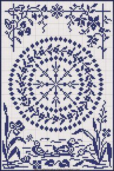 Χειροτεχνήματα: Μονόχρωμα κεντητά τραπεζομάντηλα / monochromatic cross stitch tablecloths