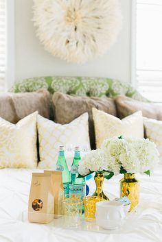 how to prepare for house guests and create a guest room tray