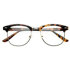 Vintage Inspired Classic Clubmaster Nerd Wayfarers UV400 Clear Lens Glasses