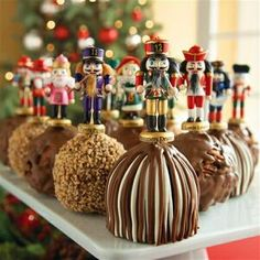 Nutcracker caramel apples
