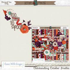 Scrapbooking TammyTags -- TT - Designer - Queen Wild Scraps,  TT - Item - Word Art, TT - Style - Cluster, TT - Theme - Halloween