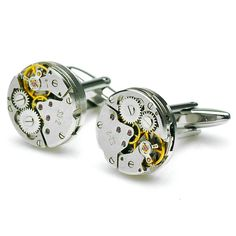 Upcycled PenSee Watch Mechanism Cufflinks for Men. Truly unique.