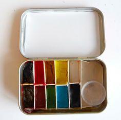 DIY Altoids Watercolor Tin