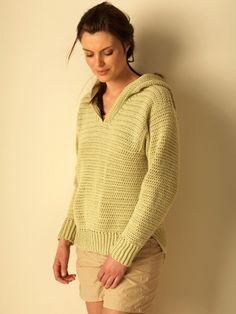 Hoodie - Free Crochet Pattern - (yarnspirations)
