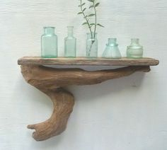 Driftwood Shelf, Reclaimed Wood Shelf, Collection Display, Beach House Decor, 18 Inches Long, by Divine Driftwood...